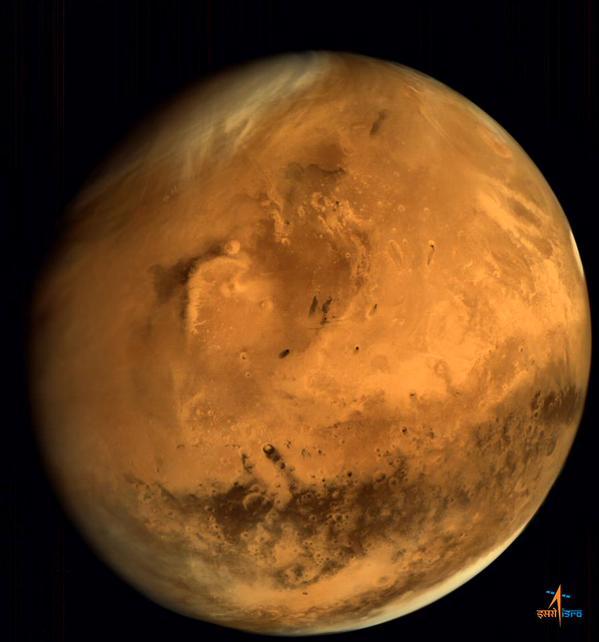 Zdjęcie Marsa wykonane przez sondę Mangalayaan. Zdj. ISRO