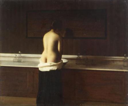 Eugène Lomont, 'Jeune femme à sa toilette