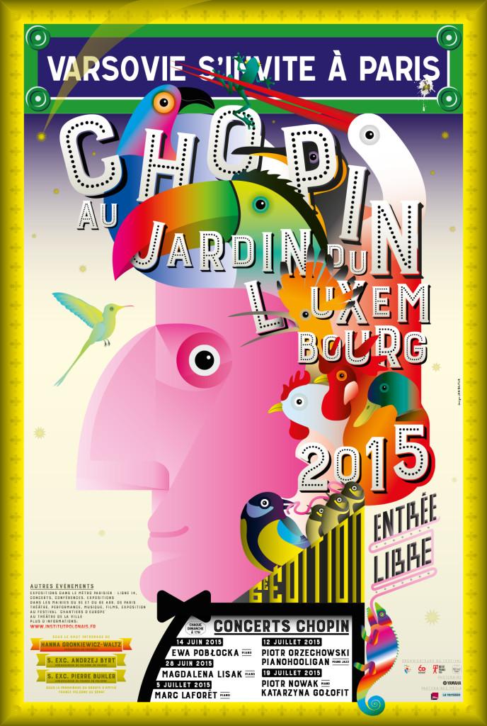 Chopin au Jardin du Luxembourg 2015-affiche 40x60