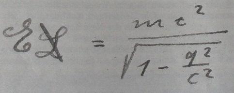 """Słynne mc2 po raz pierwszy napisał Einstein w 1905 roku."""" width=""""483"""" height=""""192"""" /> Słynne mc2 po raz pierwszy napisał Einstein w 1905 roku. Źródło: Wikipedia"""