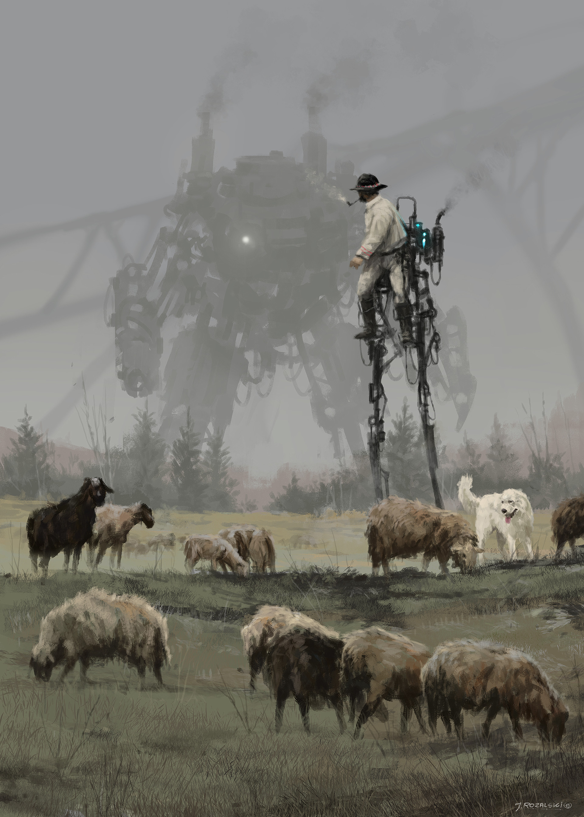 jakub-rozalski-sheep-walker-s
