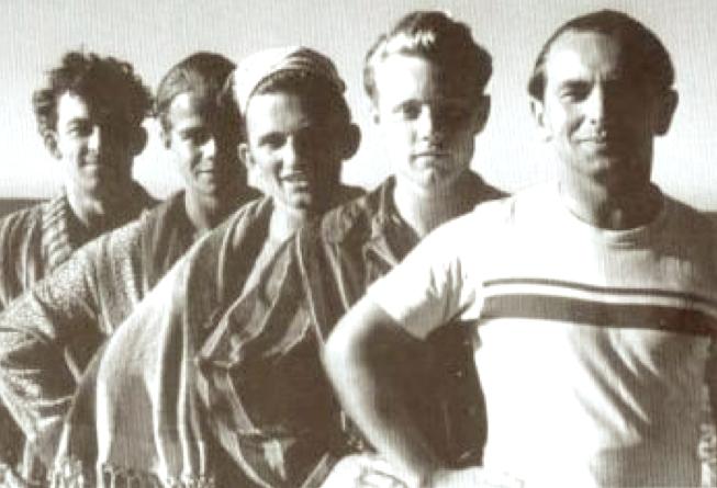 Melomani w Ustroniu – od prawej: Dentox, Trzaskowski, Idon, Komeda, Duduś
