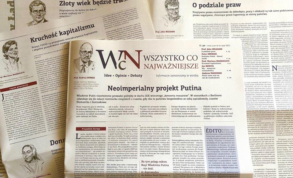 """Jest już nr 30 """"Wszystko co Najważniejsze"""" - w EMPIKach w całym kraju, wysyłkowo w Sklepie Idei, w Księgarni Polskiej w Paryżu"""