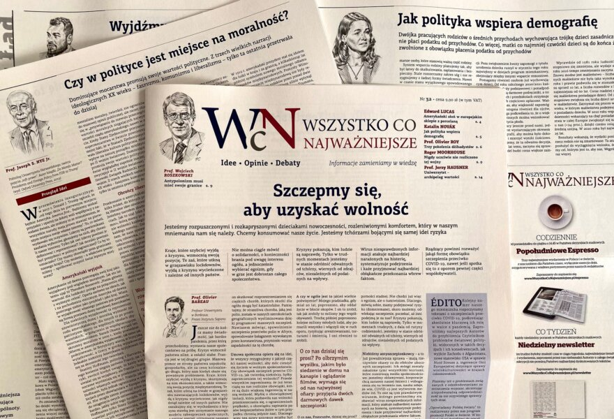 """Nr 32 """"Wszystko co Najważniejsze"""" już jest w EMPIKach w całym kraju, w Księgarni Polskiej w Paryżu, a wysyłkowo i w prenumeracie - w Sklepie Idei"""