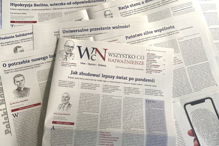 """Nr 33 """"Wszystko co Najważniejsze"""" już jest w EMPIKach w całym kraju, w Księgarni Polskiej w Paryżu, a wysyłkowo i w prenumeracie - w Sklepie Idei"""